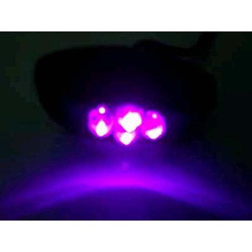 4 LED Purple Cluster Pod W/ Chrome Housing