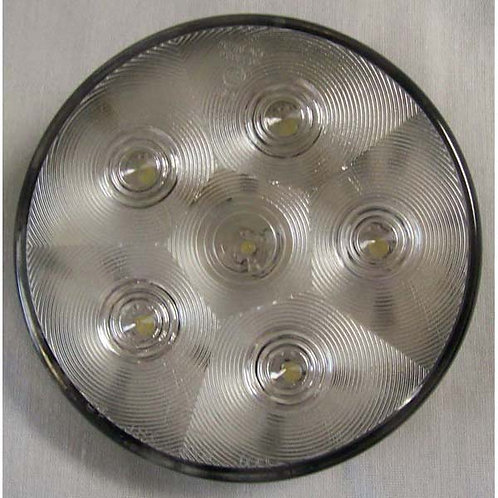 """White Backup Light LED-4"""" round"""
