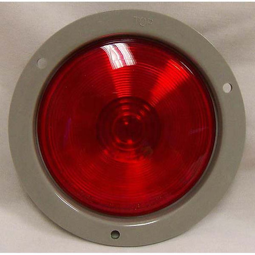 "S/T/T - 4"" Round Gray Plastic Flange - Red Incandescent"