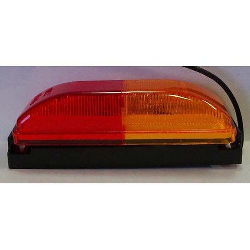 "4"" Amber/Red Clearance Marker Kit- Black Bracket"