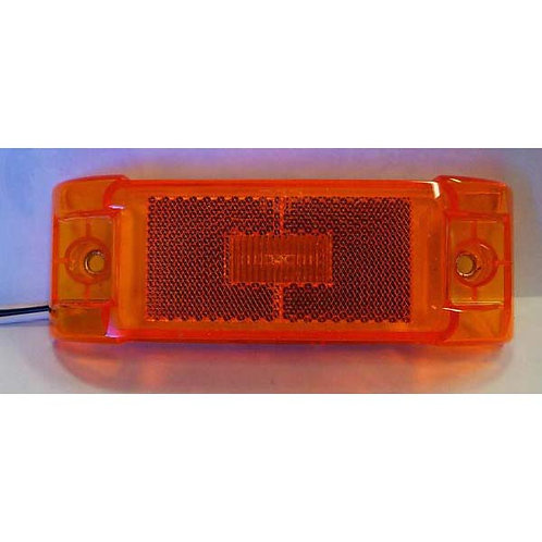 "6"" Amber Clearance Marker Kit- 3 Led"