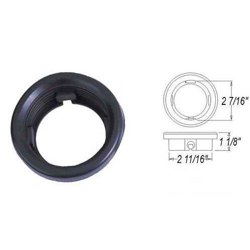 "Grommet - 2.5"" Round Open-Back - Black"