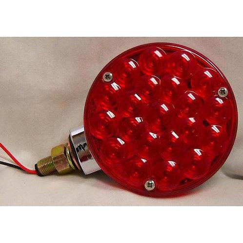 T/S - Single Face - Chrome Housing - Red 21 LED