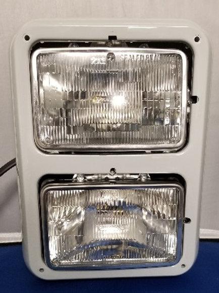 Dual - stacked - headlight assembly - 4 x 7 - raw bezel
