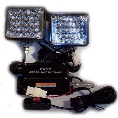 Red Square LED Strobe/Flasher Light- Stud Mount
