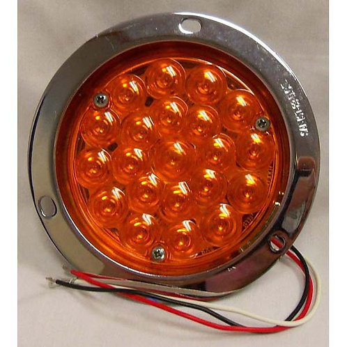 "T/S - 4"" Round Die-Cast Flush - Amber 21 LED"