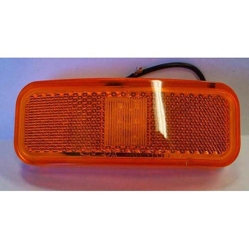 "4"" Amber Reflective Clearance Marker- 6 Led"