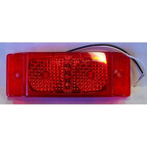 "Clearance Marker - Double Bullseye Reflective - 6"" Red LED"