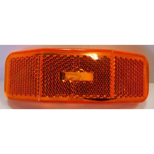 """4"""" Amber Clearance Marker Light W/ Reflective Lens"""