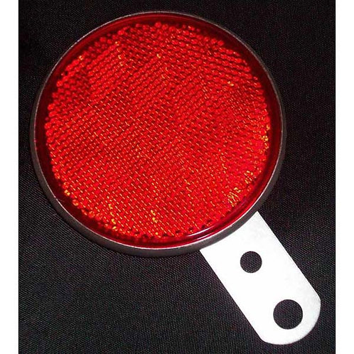 "3"" Red Reflector W/ Steel Mounting Bracket"