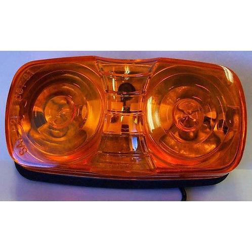 "4"" Amber Double Bulls Eye Clearance Marker Light"