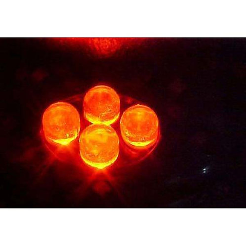 4 LED Red Cluster Pod W/ Black Housing
