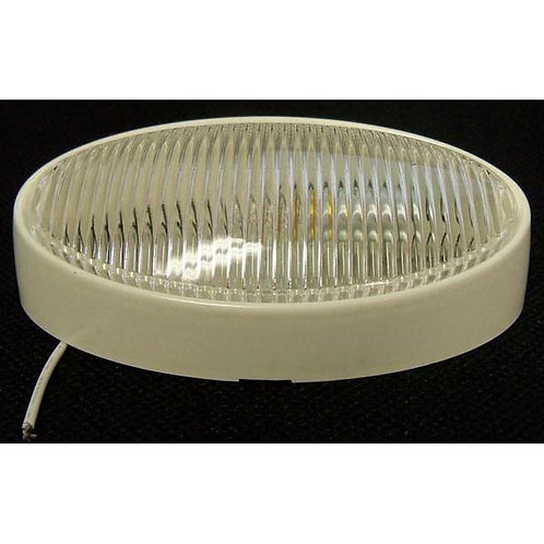 Clear Oval Porch/Utility Light- No Switch- Boat, Trailer, Bus, RV, Camper, Motor-home
