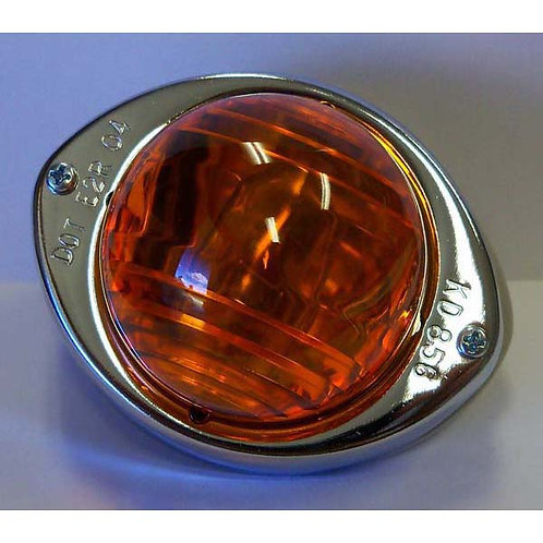 Side T/S - Chrome-Plated - Incandescent- Amber