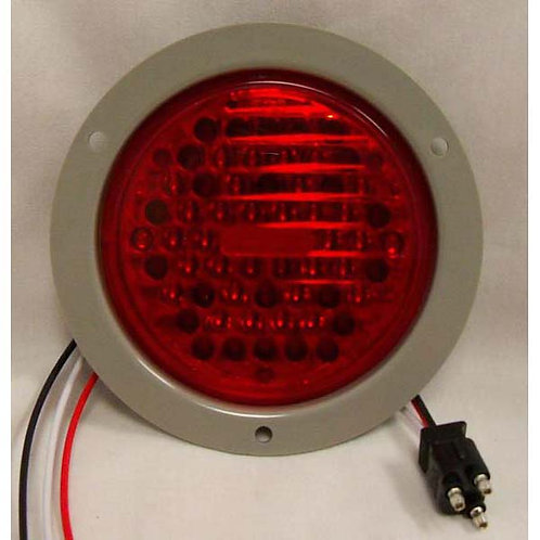 "S/T/T - 4"" Round Flange Kit - Red 34 LED"