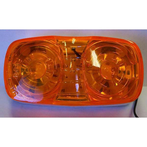 "4"" Amber Double Bulls Eye Combo Clearance/Side Marker Light"