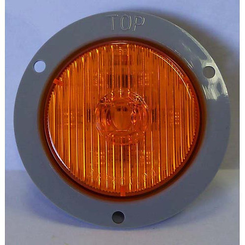 "2.5"" Amber LED Clearance Marker W/ Flange- 7 Led"
