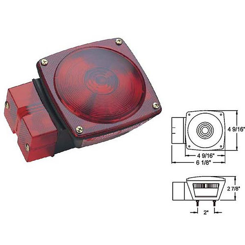 "Over 80"" Wide Red Trailer Light W/ License Light"