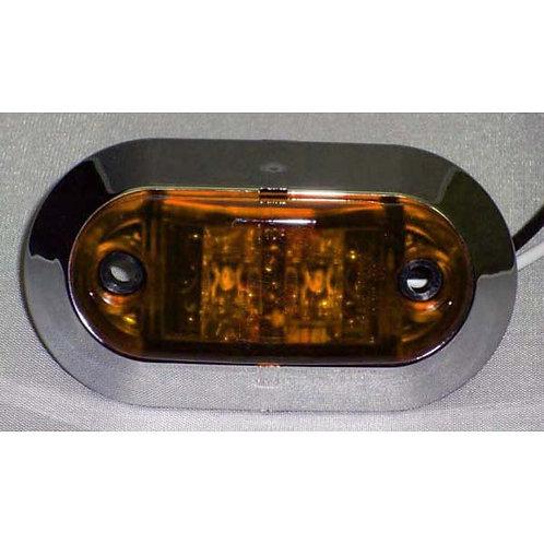 Mini Oval Amber Clearance Marker Kit- 2 Led