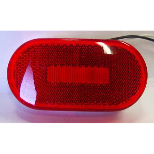 """4"""" Red Clearance Marker W/Reflective Lens- 6 Led"""