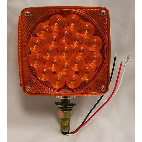 T/S - Vertical - Chrome Housing - Amber/Amber 1 Stud - 21 LED