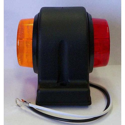 LH Amber/Red LED Clearance Marker Kit- Fender Mount