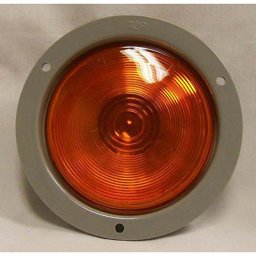 "T/S - 4"" Round Gray Plastic Flange - Amber Incandescent"