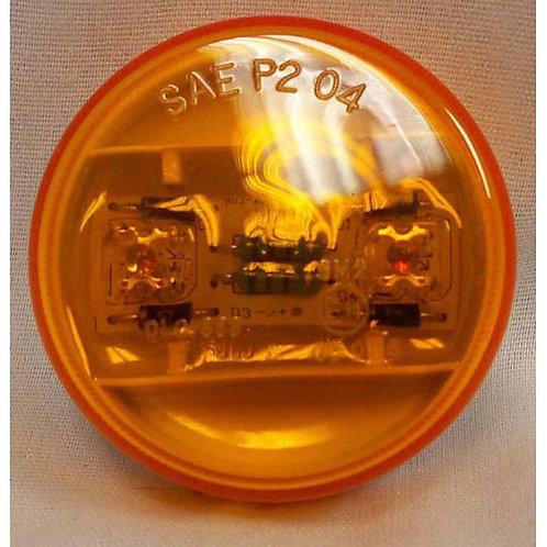 """2"""" Amber Round Side Marker- 24v 2 Led"""