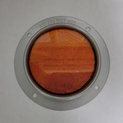 "4"" Round - Amber Reflector -  Steel Housing - series 326"