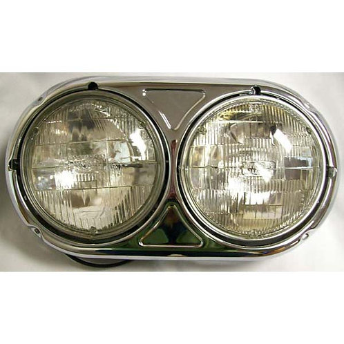 headlight assembly dual round