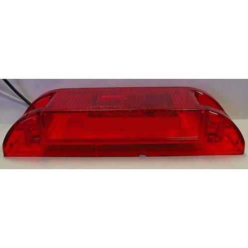 "6"" Red Rectangular Clearance Marker Kit- 3 Led"