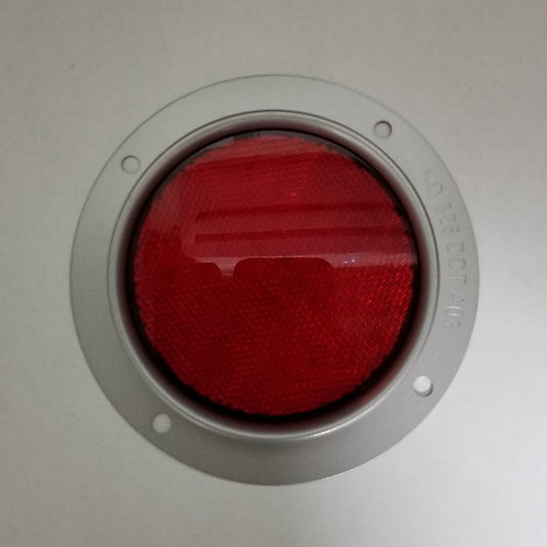 "4"" Diameter red reflector steel housing"