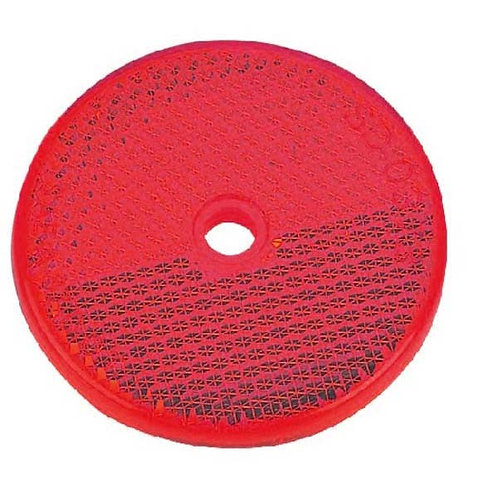"2 1/4"" Red Reflector Center Mount"