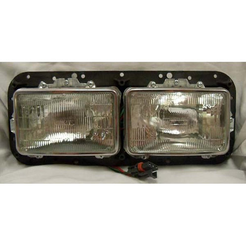 Dual Small Rectangular Headlight Assembly for Bus - Blue Bird