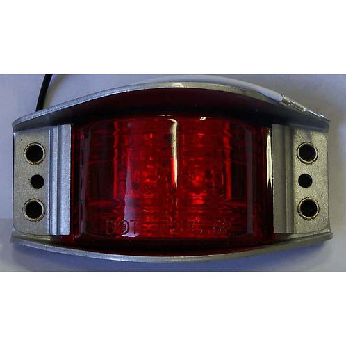 Red/Chrome Narrow-Rail Clearance Marker- 6 Led