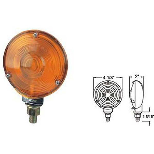T/S - Single Face - Black Plastic Housing - Amber Incandescent