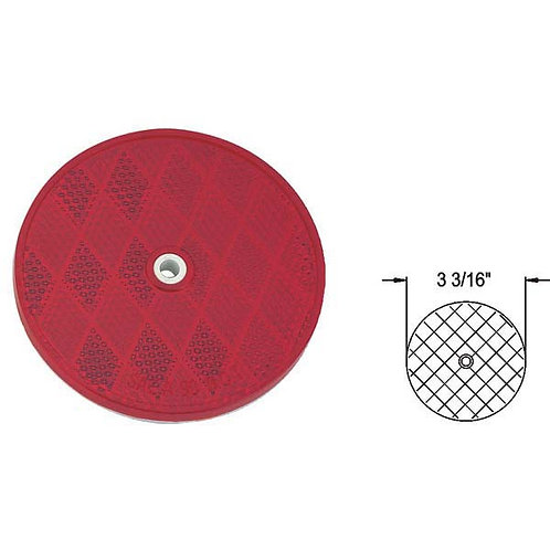 "3 3/16"" Round Reflector W/ Center Hole"