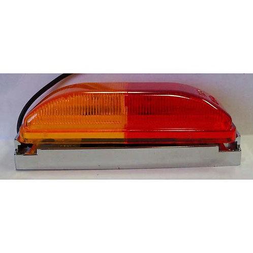 """4"""" Amber/Red Clearance Marker Kit - Chrome Bracket- 6 Led"""