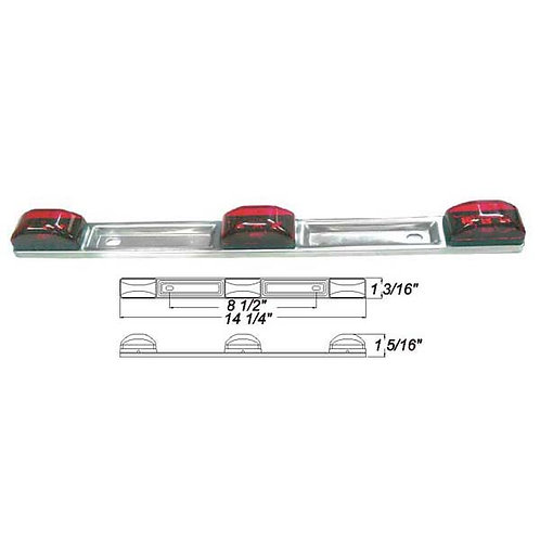 Red Tri-Id LED Light Bar