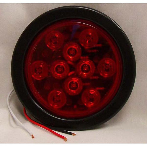 """S/T/T - 4"""" Round Kit Lead Wire - Red 10 LED"""