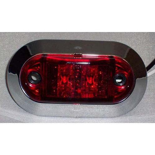 """2 5/8"""" Mini Red LED Clearance Marker Kit- 2 Led"""