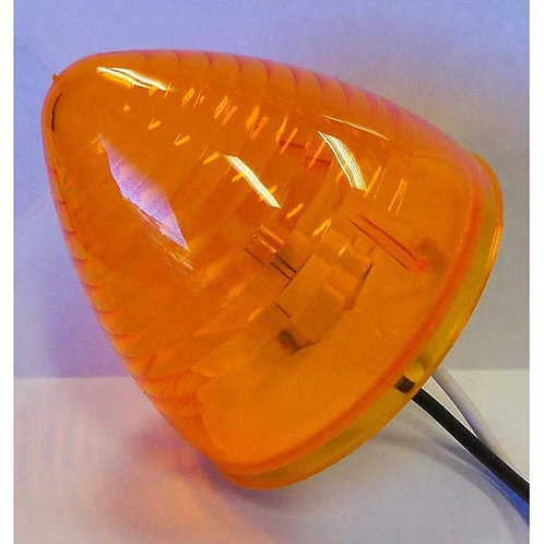"""2.5"""" Amber Twist-In Beehive Clearance Marker"""