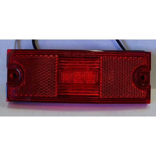 "4.5"" Red LED Clearance/Side Marker- 3 Led"