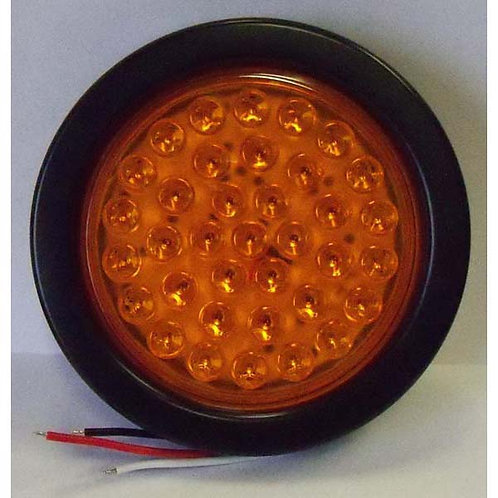 "Warning Light - 4"" Amber Round Hard Wire Kit - 36 Led"
