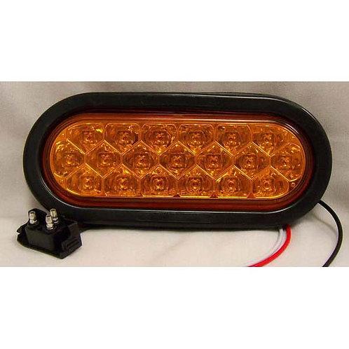 "T/S - 6"" Oval Kit - Amber 19 LED"