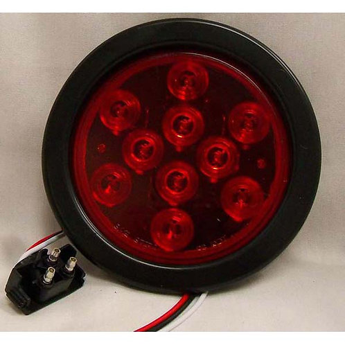 """S/T/T - 4"""" Round Kit - Red 10 LED"""