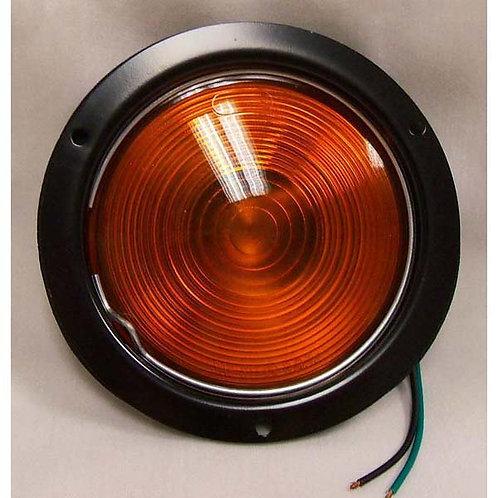 "T/S - 4"" Round Black Steel - Amber Incandescent"