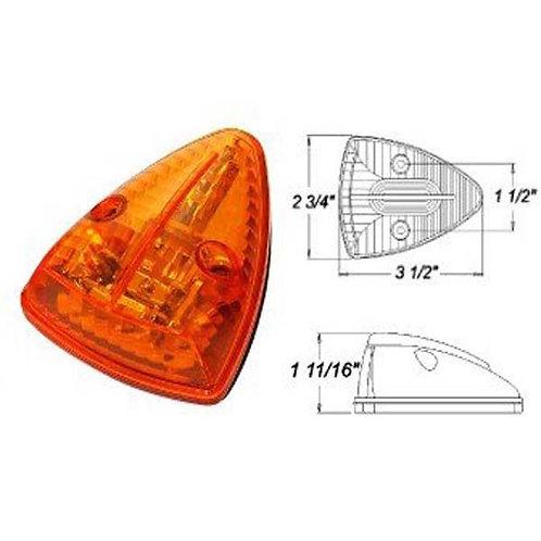 Cab Marker - Triangle - Amber 13 Super LED