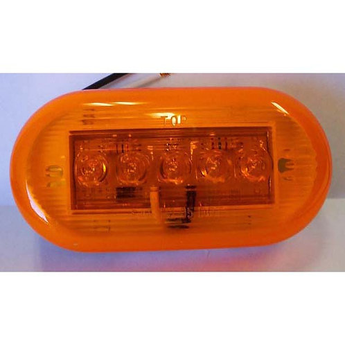 """4"""" Amber Clearance Marker- 5 Led"""