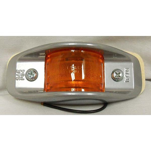 Clearance/Side Marker - Armored Silver One Wire - Amber Incandescent
